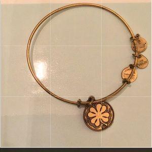 Alex and ani gold charm good luck bracelet